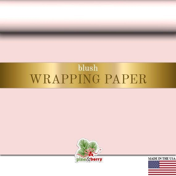 Blush Pink Wrapping Paper, Gift Wrap In Matte Blush, 2FT X 12FT Gift Wrap Roll G...