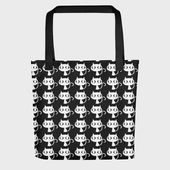 Cats tote bag | Large tote bag | Goth tote bag | Cat mom | Cat lover gift | Cats ...