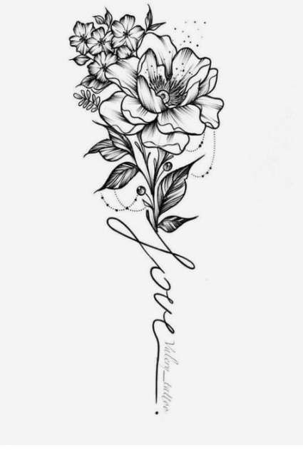 21+ Trendy Ideen für Tattoo Ärmel Ideen für Frauen Blumen Stil  Tatoeage ideeën #flowertattoos - flower tattoos designs