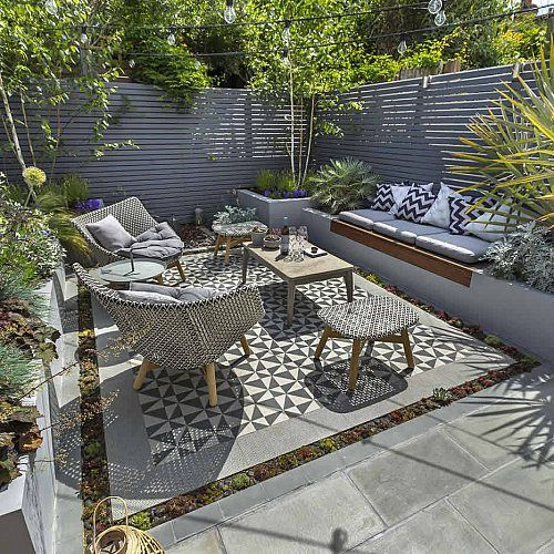 Private small garden design outdoor room ideas courtyard London
