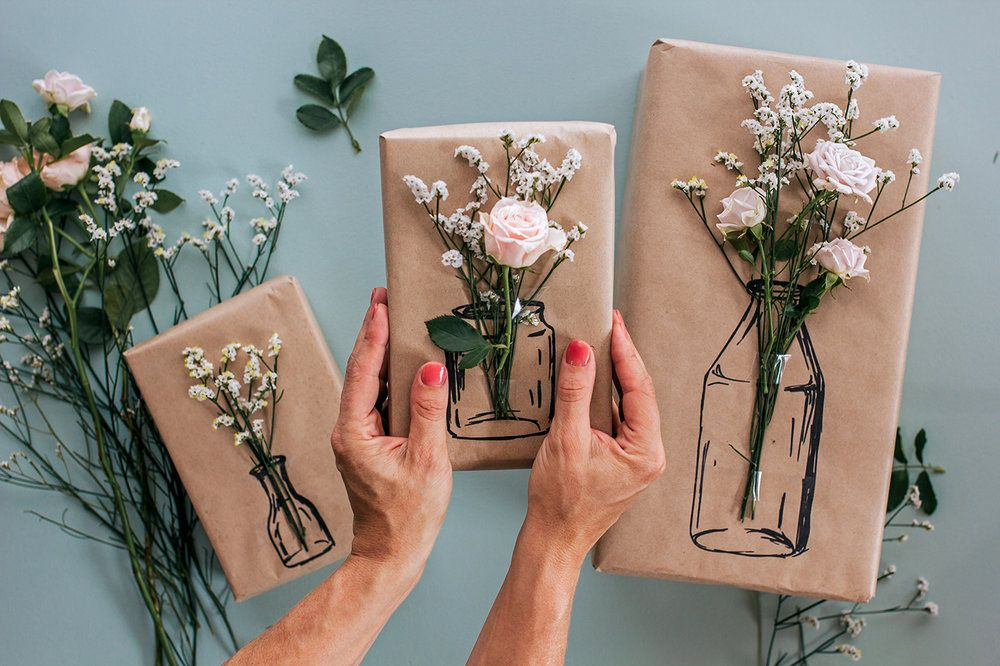Try this Simple Floral Gift Wrapping! — Clever Poppy