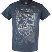 T-Shirts for men Skull map of the outer view T-ShirtEmp.de This im ...