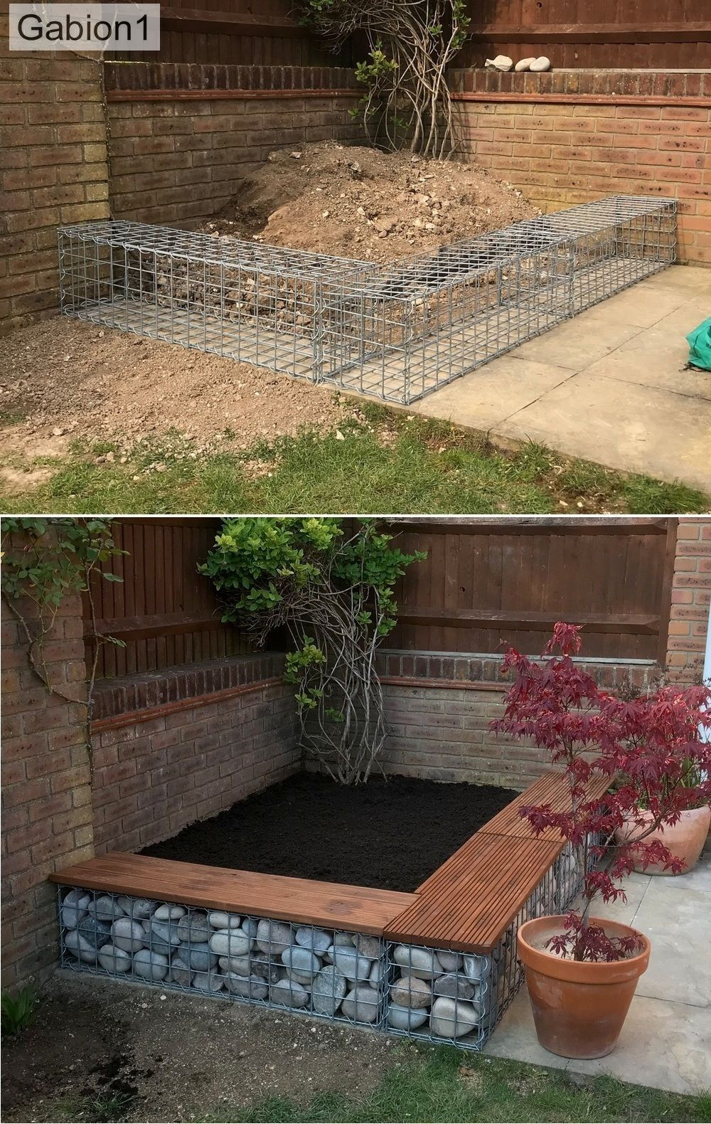small gabion plants #terracegardendesign #gartenlandschaftsbau small gabion plants ...