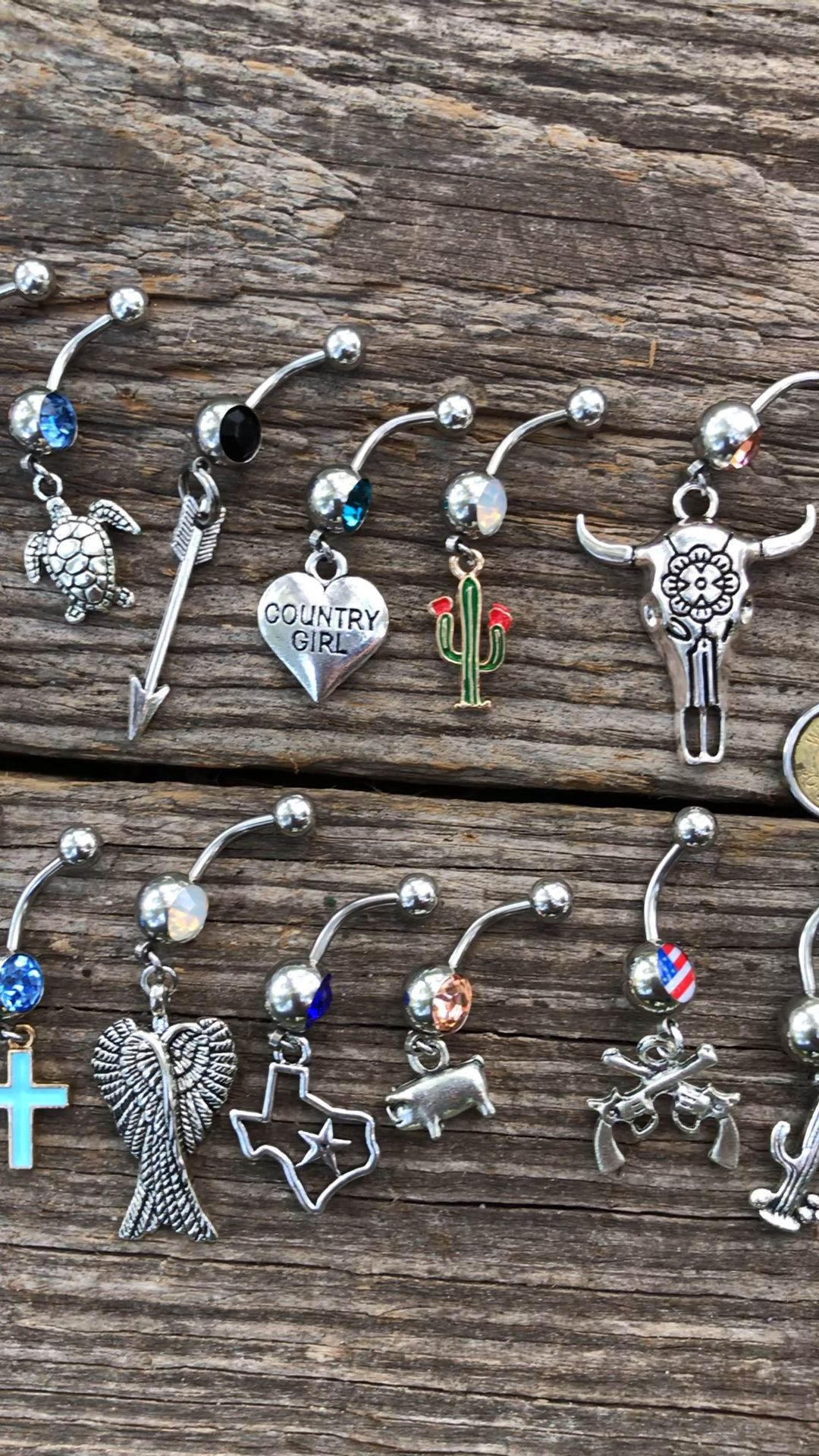 Country Girl Belly Rings