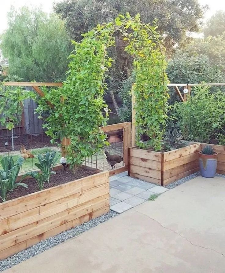 42 Best Vegetable Garden Design Ideas for Green Living #vegetablegarden #gard  4...