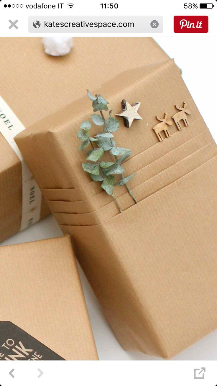 Wrapping gifts beautifully with kraft paper MrsBerry Family Travel Blog | About living and traveling with a child