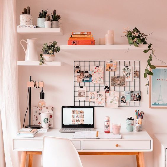 30+ Girly Pink Home Office Ideas You Want To Work All Day - Page 37 of 38 - Decorating Ideas