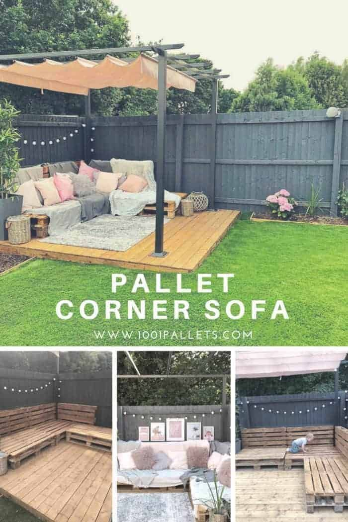 How I made a simple but effective pallet corner sofa for 9 euro pallets