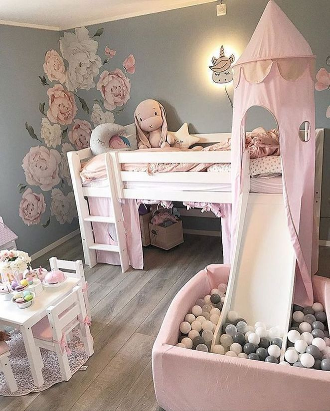 39+ Using Little Girls Room #toddlerrooms Adhere to a design style that you will...