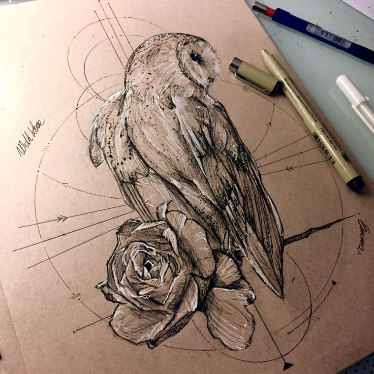 Geometric Tattoo – owl design más owl eule tattoo geometrische tattoos eulen eule hülse …